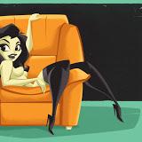 pin up cartoon girl